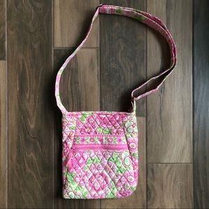 Vera Bradley pinwheel pink hipster crossbody purse